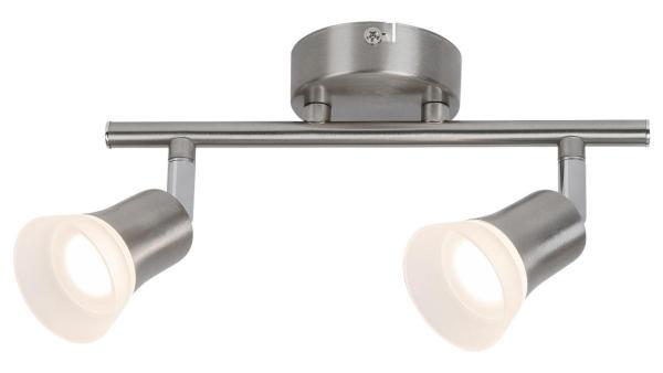 LED Deckenleuchte chrom matt/chrom/Opalglas LED-Board 2X4W A+ 3000K 2X350lm IP20