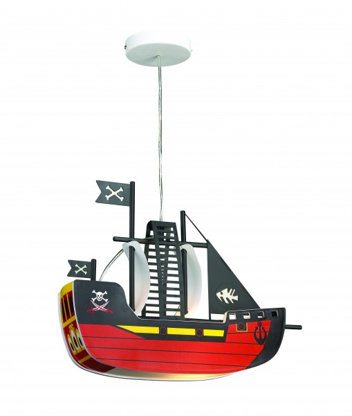 Kinderzimmerlampe Junge bunt im Schiff-Design