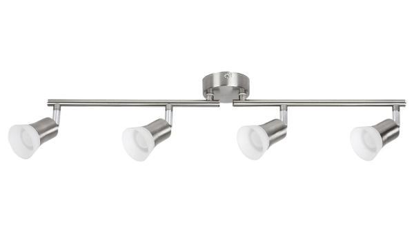 LED Deckenleuchte chrom matt/chrom/Opalglas LED-Board 4X4W A+ 3000K 4X350lm IP20