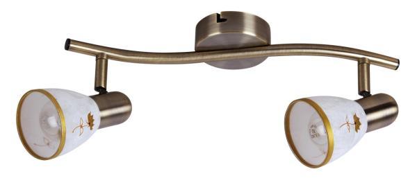Deckenleuchte aus Glas 2 flammig bronze E14