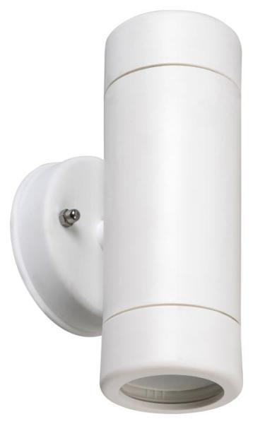 Außenwandleuchte MEDINA weiß aus Kunststoff 2-flammig