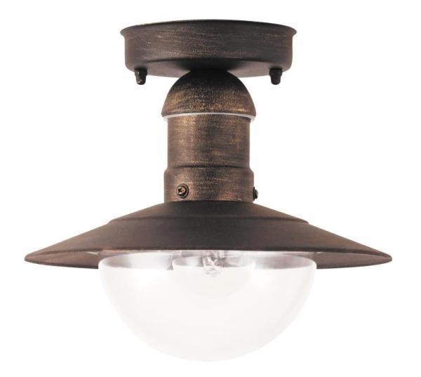 Oslo Außendeckenleuchte klassisch Metall/Kunststoff antikgold Außenleuchte Deckenlampe Außenlampe E2