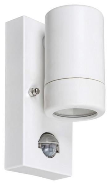 Außenwandleuchte MEDINA weiß mit Sensor 1-flammig