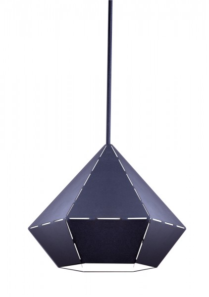Pendelleuchte schwarz aus Metall DIAMOND E27