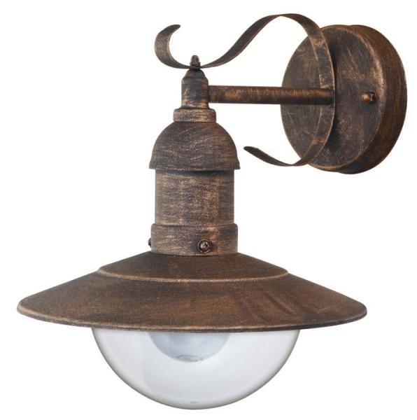 Oslo Außenwandleuchte klassisch Metall/Kunststoff antikgold Außenlampe Wandlampe E27 60W