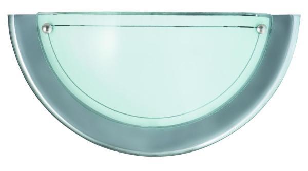 Wandleuchte E27 chrom aus Glas