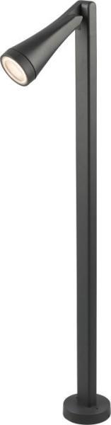 OTTAWA Wegeleuchte modern Aluminium/Glas grau Außenleuchte Standleuchte Pollerleuchte GU10 35W