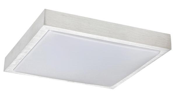 LED Deckenleuchte gebürstetes Aluminium/Opalglas LED-Board 18W A 3000K 1080lm IP20