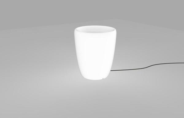 FLOWERPOT Garten-Dekoleuchte modern PE weiß Dekolampe Außenlampe Gartenlampe E27 60W