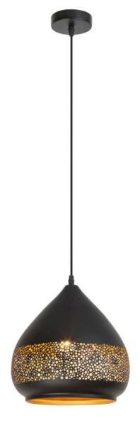 Pendelleuchte schwarz aus Metall Kaia E27