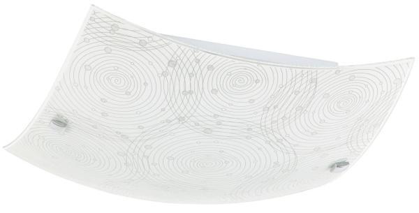 LED Deckenleuchte 12W neutralweiß Metall/Glas