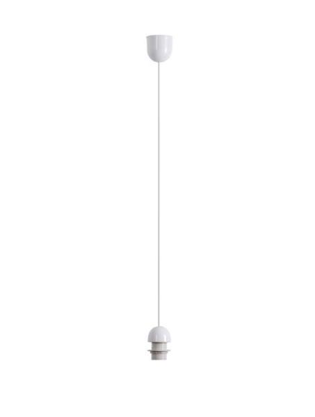 Fix Pendel Kunststoff weiß E27 60W