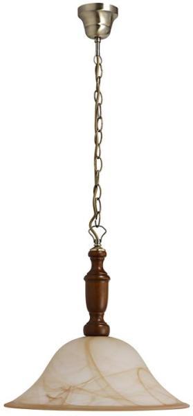Pendelleuchte aus Holz braun 1 flammig E27 Rustic 3