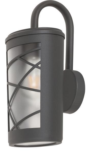 Pescara Außenwandleuchte Industriedesign Aluminium/Kunststoff anthrazit grau/Opalglas Außenlampe Wan