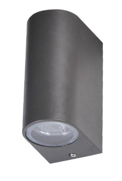 Außenwandleuchte Aluminium-Druckguss/Glas schwarz