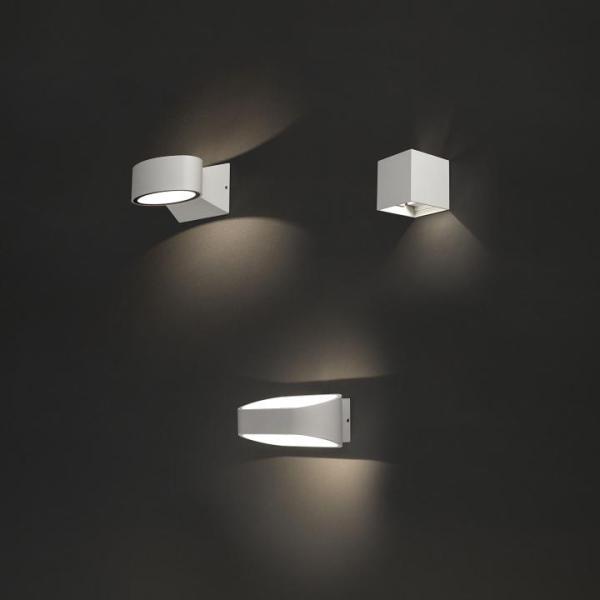 HAVANA Außenwandleuchte modern Aluminium/Kunststoff weiß Außenlampe Wandlampe LED-Board 9W