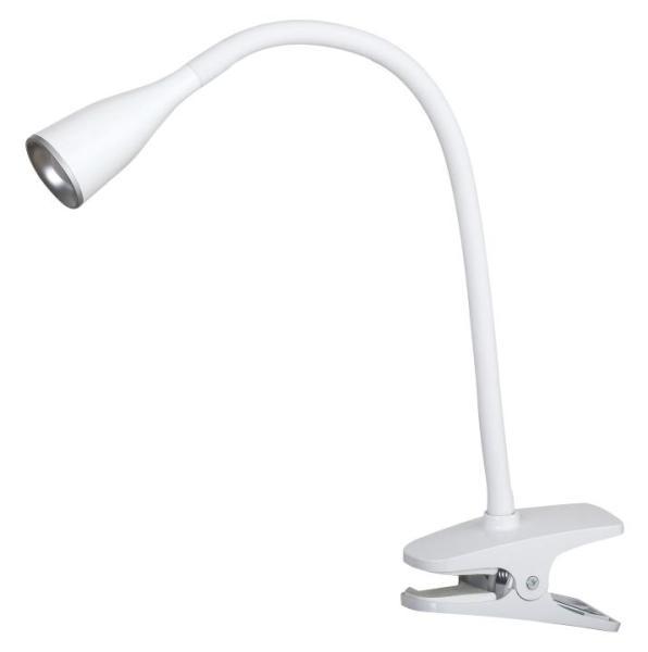 Schreibtischlampe LED weiß modern klemmbar