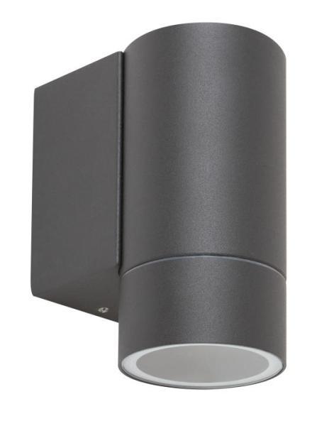 Phoenix, Außenwandleuchte GU10 1X MAX 10W, Aluminium, antrazitgrau IP54