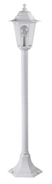 Velence Wegeleuchte klassisch Metall/Glas weiß Außenleuchte Standleuchte Pollerleuchte E27 60W