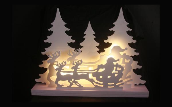LED-Weihnachtsdeko Winterwald Schlitten