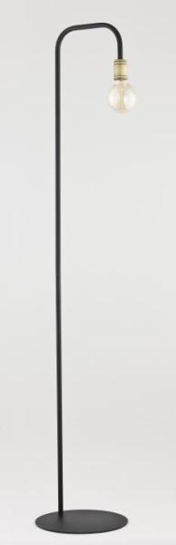RETRO Stehleuchte schwarz/gold 1-flammig E27 60W