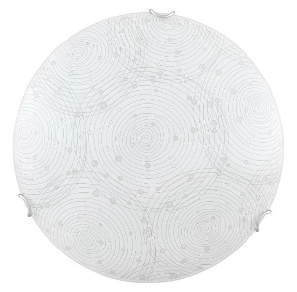 LED Deckenleuchte 18W weiß Metall/Glas D40
