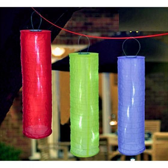 Solar-Lampion LED blau