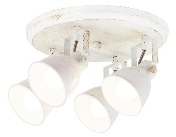 Deckenleuchte weiß 4 flammig Vivienne E14