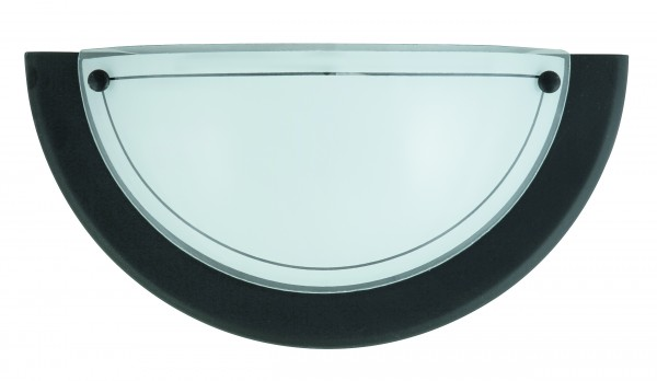 Wandleuchte schwarz aus Glas Ufo E27