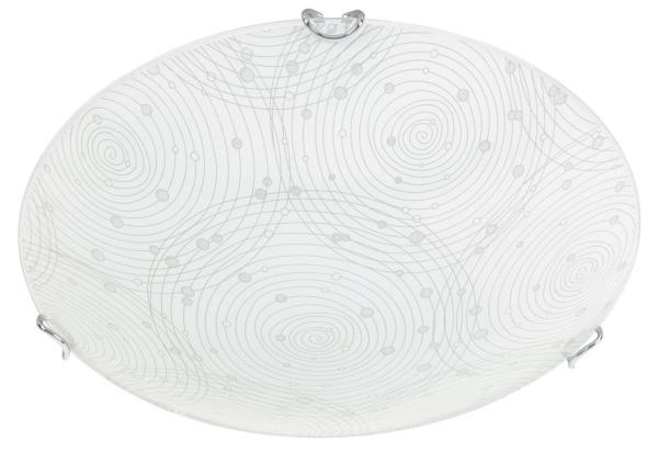 LED Deckenleuchte 12W weiß Metall/Glas D25