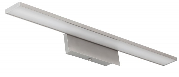 LED Wandleuchte chrom matt 10W 3000K 700lm
