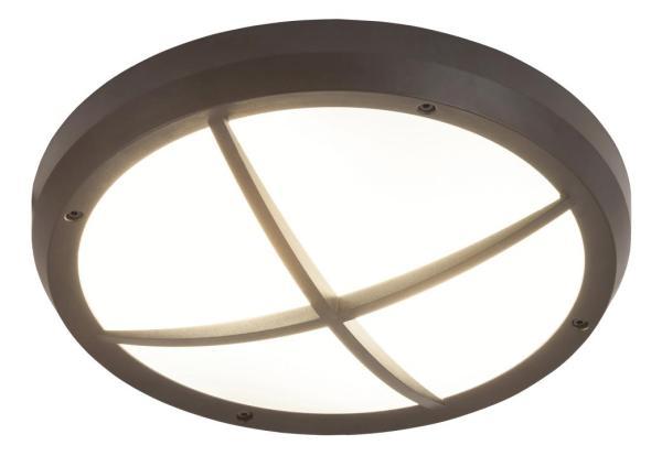 Alvorada Außendeckenleuchte klassisch Kunststoff anthrazit grau Außenleuchte Deckenlampe Außenlampe