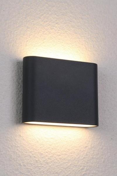 SEMI Außenwandleuchte modern Aluminium anthrazit Außenlampe Wandlampe LED-Board 72W