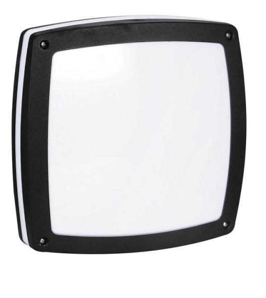 Saba Außendeckenleuchte modern Metall/Kunststoff schwarz Außenleuchte Deckenlampe Außenlampe E27 60W