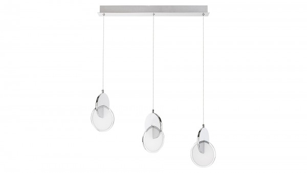 LED Pendelleuchte chrom/Opalglas LED-Board 22W A 3000K 1400lm IP20