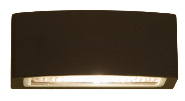 BRICK Außenwandleuchte modern Aluminium/PC anthrazit Außenlampe Wandlampe E27 60W