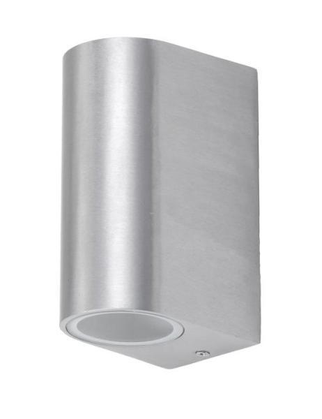 Außenwandleuchte Aluminium/Glas aluminium