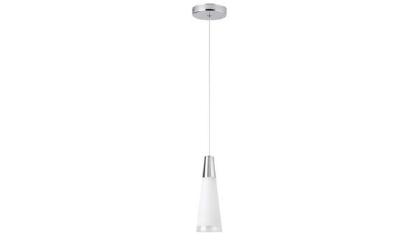 Pendelleuchte chrom/Opalglas Metall Kunststoff E14 1X MAX 40W IP20