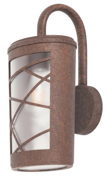 Pescara Außenwandleuchte Industriedesign Aluminium/Kunststoff braun/Rosteffekt/Opalglas Außenlampe W