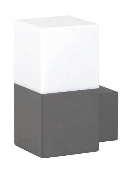 Dover Außenwandleuchte modern Aluminium/Kunststoff weiß/anthrazit grau Außenlampe Wandlampe E27 40W