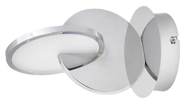 LED Wandleuchte chrom/Opalglas LED-Board 7W A 3000K 400lm IP20