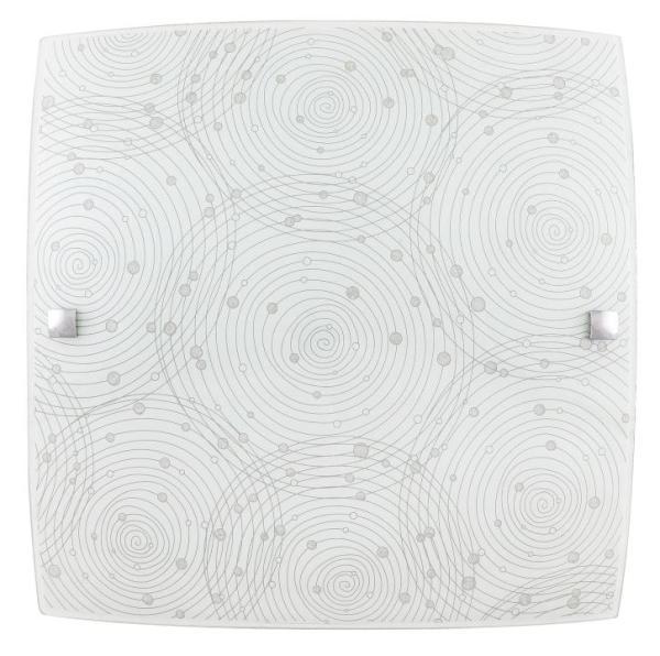 LED Deckenleuchte 18W neutralweiß Metall/Glas