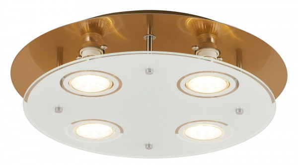 LED Deckenleuchte 5W 4 flammig bronze rund warmweiß