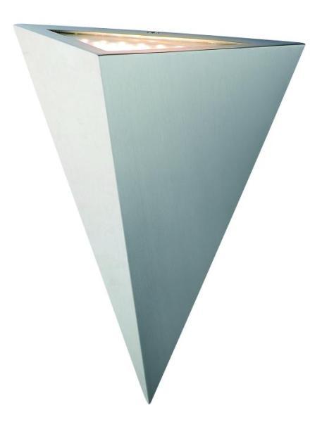 Außenwandleuchte LED Edelstahl/Glas silber
