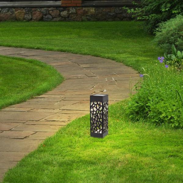 Außendekorations Beleuchung MORA schwarz mit Schalter 180mm