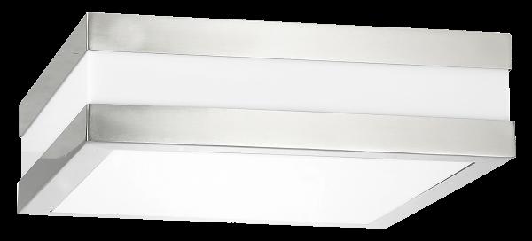 Stuttgart Außendeckenleuchte modern Metall/Kunststoff edelstahl Außenleuchte Deckenlampe Außenlampe