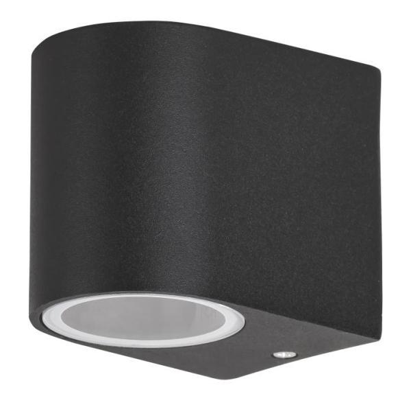 Chile Außenwandleuchte modern Metall/Glas schwarz Außenlampe Wandlampe GU10 35W