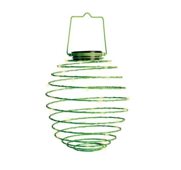 LED Solar-Spirale grün