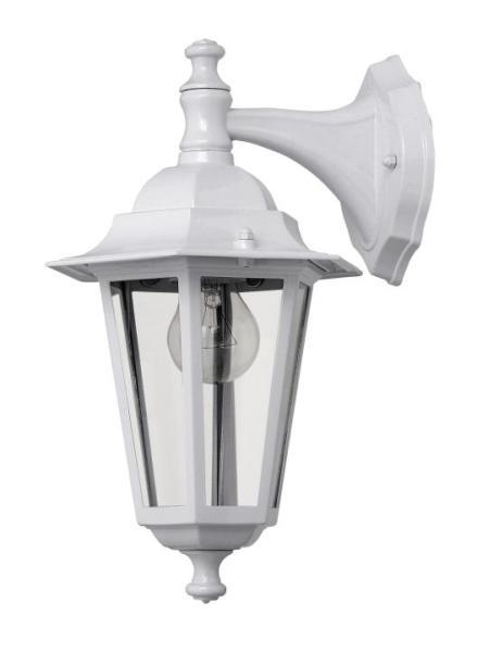 Velence Außenwandleuchte klassisch Metall/Glas weiß Außenlampe Wandlampe E27 60W