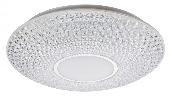 LED Deckenleuchte transparent/weiss/chrom LED-Board 48W A 3000-6500K 3476lm IP20
